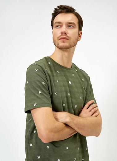 Koton Baskılı T-Shirt Yeşil